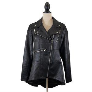 Umbrella Academy Moto Jacket Black Peplum High Low Allison No. 3, Size M
